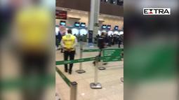Passageiros flagram briga de manifestantes no Santos Dumont