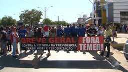Confira como foram os protestos contra as reformas do Goverdo Federal no interior da BA
