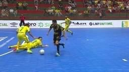 Os gols de Marechal Rondon 1 x 1 Assoeva pela Liga Nacional de Futsal