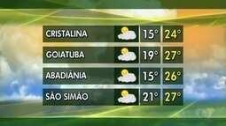 Veja a previsão do tempo para esta semana em Goiás