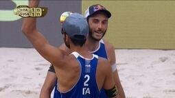 Nicolai e Lupo, da Itália, ficam com o bronze no Circuito Mundial de vôlei de praia
