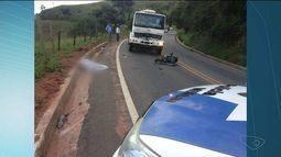 Motociclista de 18 anos morre após bater em caminhão em Alegre, no Sul do ES
