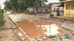População reclama de avenida no Maranhão