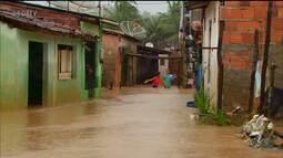 A forte chuva causou muitos transtornos no Recife na região metropolitana