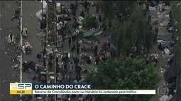 Usuários deixam Praça Princesa Isabel e retornam para antiga Cracolândia