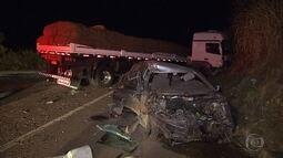 Motorista fica ferido em acidente na BR-381, em Sabará, na Grande BH