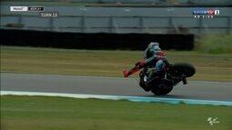 Confira queda de Francesco Bagnaia na Moto 2