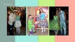 Três casais de uma mesma família se conheceram em festas juninas