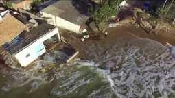 Avanço do mar deixa Defesa Civil em alerta em São João da Barra (RJ)