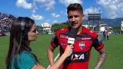 """Everaldo lamenta falta de """"efetividade"""" no ataque do Atlético-GO: """"Precisamos trabalhar"""""""