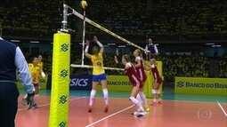 Seleção brasileira de vôlei feminino vence a Polônia em amistoso antes do Grand Prix