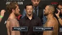 Gunnar Nelson e Santiago Ponzinibbio passam pela pesagem do UFC Escócia