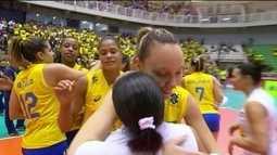 Pontos finais de Brasil 3 x 1 Holanda pelo Grand Prix de vôlei feminino