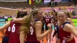 Melhores momentos de EUA 3 x 1 Bélgica pelo Grand Prix de vôlei feminino