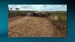 Manilhas são colocadas nas Praias do Saco e do Abaís para evitar acesso de veículos