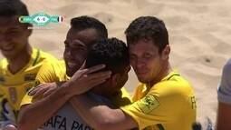 Os gols de Brasil 9 x 0 França pelo Mundialito de Futebol de Areia
