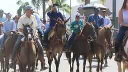 A 40ª edição da Expoacre 2017 começou neste sábado (22) com a tradicional Cavalgada