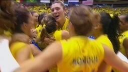 Melhores momentos de Brasil 3 sets a 1 EUA pelo Grand Prix de vôlei feminino