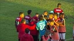 Os gols de Flamengo 3 x 1 Palmeiras pela semifinal da Taça BH de futebol sub-17