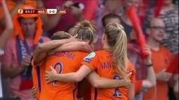 Os gols de Holanda 2 x 0 Suécia pela Uefa Euro de futebol feminino