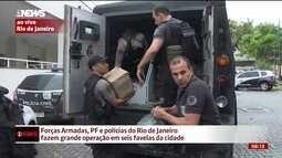 Operação no RJ apreende enorme carga de drogas e equipamentos do tráfico