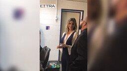 Fernanda Lima recebe Tiago Abravanel no camarim