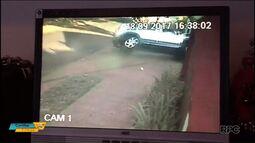 Câmeras de segurança registram acidente grave, em Maringá