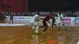 Os gols de Joinville 1 x 1 Concórdia pela Liga Nacional de Futsal