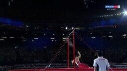 Hidetaka Miyachi sofre queda na barra fixa pelo Mundial de Ginástica