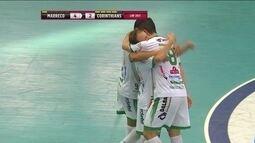 Os gols de Marreco 6 x 4 Corinthians pelas quartas de final da Liga Nacional de Futsal