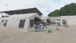 Adaptações no abrigo para imigrantes venezuelanos em Boa Vista ainda não foram concluídas