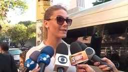 Apresentadora Ana Hickman presta depoimento em BH em processo no qual o cunhado é acusado
