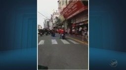 Motociclistas saem de Bandeira do Sul (MG) com destino a Aparecida (SP)