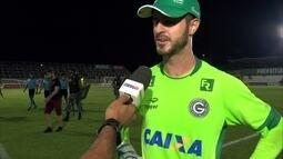 """Destaque do jogo, Marcelo Rangel comemora defesas e vitória: """"Fizemos uma grande partida"""""""