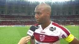 """""""Não fizemos gol, mas tivemos três ou quatro chances reais"""" diz Boaventura"""