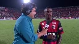 """Vinicius Junior após a vitória em cima do Cruzeiro: """"A gente vem trabalhando muito duro"""""""