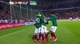 O gol de Polônia 0 x 1 México em Amistoso Internacional