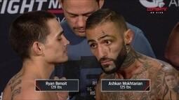 Ashkan Mokhtarian e Ryan Benoit passam pela pesagem do UFC Austrália