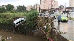 Homem morre ao tentar socorrer casal preso em carro após temporal em Campinas (SP)