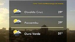 Meteorologia prevê pancadas de chuva para esta terça-feira