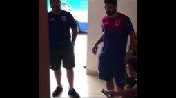 Jogadores do Paraná na concentração antes do jogo contra o CRB