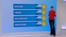 Tempo permanece chuvoso em Minas Gerais nesta quinta-feira, dia 23