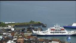 Ferry Juracy Magalhães atrasa a viagem após problema na rampa de Bom Despacho