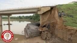 Prazo não é cumprido e erosão ameaça cabeceira da ponte no Cophema
