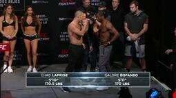 UFC: Veja como foi a pesagem de Chad Laprise x Galore Bofando