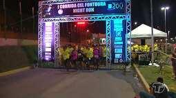 Corrida Coronel Fontoura da PM movimenta estacionamento de shopping, em Santarém