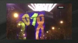 Colaboradores do app 'Na Rua GloboNews' mostram ano novo em Niterói/RJ, Brasília e Paris