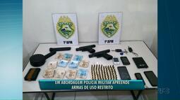 Polícia apreende armas restritas, usadas pela polícia paranaense e americana