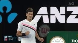 Federer vai às semifinais do Australian Open sem perder um set sequer