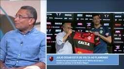 PC Vasconcellos diz que Julio Cesar foi melhor goleiro do século XXI no Flamengo
